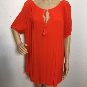 a.n.a. Orange Short Sleeve Top